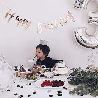 女性家族暮らし4LDK、誕生日ケーキに関するchakiさんの実例写真