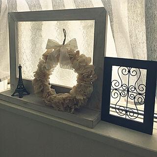 女性家族暮らし4LDK、セリアカフェカーテンに関するpikarunさんの実例写真