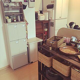 キッチン/冷蔵庫横/無印良品/食器棚/冷蔵庫...などのインテリア実例 - 2015-12-22 20:23:24