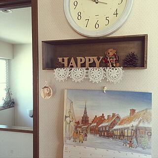 女性34歳の家族暮らし4LDK、リメイク時計に関するme_sweetさんの実例写真