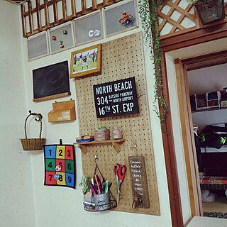壁/天井/100均いっぱい/100均かご/ちょい棚のインテリア実例 - 2017-04-10 16:15:27