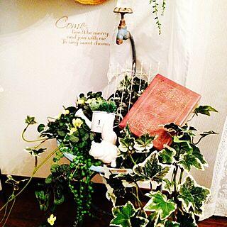 女性42歳の家族暮らし3DK、アンティーク風ホーロースタンドに関するRabbitさんの実例写真