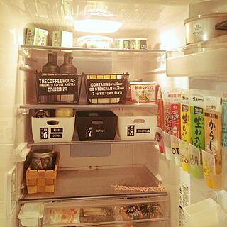 キッチン/冷蔵庫収納/冷蔵庫収納がんばりたい!/冷蔵庫の中/セリア...などのインテリア実例 - 2017-01-26 00:36:33