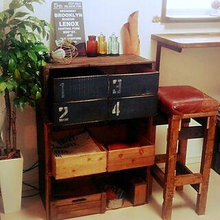 女性45歳の家族暮らし2LDK、生姜の木箱に関するryokoさんの実例写真