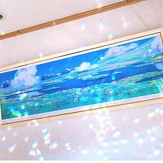 壁/天井/ジブリの風景/サンキャッチャーの光/ハウルの動く城/ジグソーパズルのインテリア実例 - 2017-01-24 09:39:31