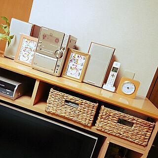 女性家族暮らし4LDK、かご収納 棚DIYに関するnorikanaさんの実例写真
