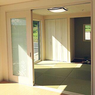 ベッド周り/和室/ナチュラル/照明/リクシルの窓...などのインテリア実例 - 2016-01-13 14:07:21