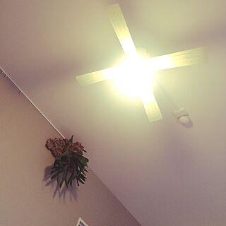 女性家族暮らし3DK、ライト作りましたに関するmari727さんの実例写真