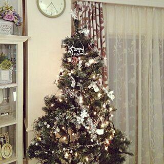 リビング/ロマンチック/クリスマスツリー/クリスマス飾り/クリスマスのインテリア実例 - 2014-12-04 19:25:48