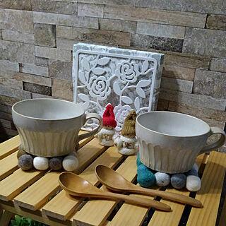 女性家族暮らし4LDK、スープカップに関するRenさんの実例写真