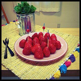 キッチン/ユナイテッドアローズ/ランチョンマット/Francfranc食器/フランフランのインテリア実例 - 2013-04-25 18:16:55