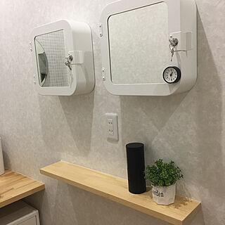 IKEA 収納BOX/時計/リフォーム/みせる収納/スケルトンリホーム...などのインテリア実例 - 2019-07-21 18:12:40