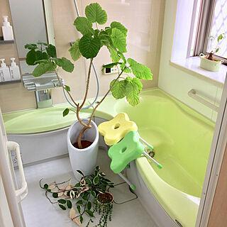 女性家族暮らし4LDK、バスルームに関するmiyuさんの実例写真