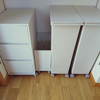 キッチン/キッチンのゴミ箱/無印良品/無印ゴミ箱/ポリプロピレンケース・引出式・深型...などのインテリア実例 - 2020-11-06 11:55:27