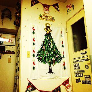 壁/天井/セリア/ニトリ/クリスマス/いつもいいね!ありがとうございます♪...などのインテリア実例 - 2016-11-30 17:27:32