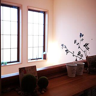 女性38歳の家族暮らし2DK、カフェ風??本棚に関するMochaさんの実例写真
