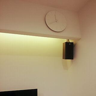 リビング/壁掛け時計/ルームシアター/リビングシアター/ライトアップ...などのインテリア実例 - 2020-05-30 23:46:39