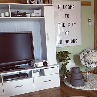部屋全体/ホームシアター/モニター当選♡/エプソンのホームプロジェクター/エプソンdreamioモニター...などのインテリア実例 - 2018-09-24 13:26:41