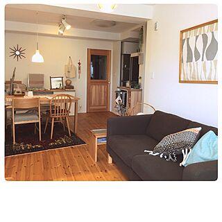 部屋全体/自然素材/リビングドア/パイン材の床/ウールラグ...などのインテリア実例 - 2016-07-17 20:09:52