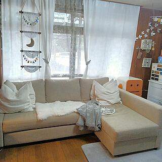 女性家族暮らし3LDK、IKEAがいっぱいに関するfumitanさんの実例写真