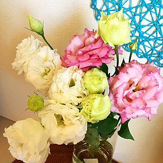 女性家族暮らし4LDK、花のある暮らしに関するRisuさんの実例写真