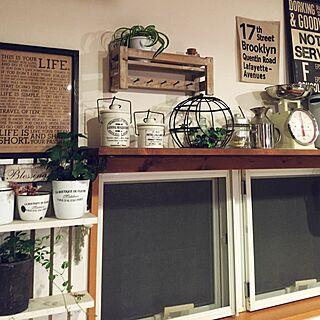 すのこ棚DIY/シュガーバイン/アイビー/キッチンの窓/LIFEマニフェスト...などのインテリア実例 - 2015-10-27 22:57:16