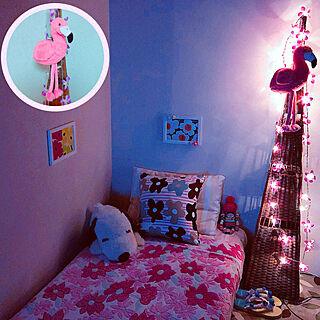 ベッド周り/2月10日/灯りに癒される♡/IKEA/マリメッコ...などのインテリア実例 - 2019-02-10 07:20:04