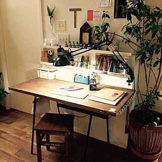 机/お絵描き/テーブル/DIY/セリア...などのインテリア実例 - 2016-07-22 18:32:03
