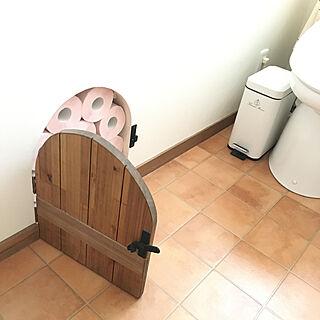 小人の扉/トイレットペーパー収納/トイレの収納/バス/トイレのインテリア実例 - 2020-04-04 17:19:10
