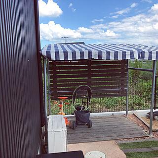 女性34歳の家族暮らし、DIY 自転車置場に関するMasumiさんの実例写真