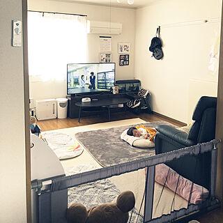 女性家族暮らし3DK、キッズスペース (リビング)に関する88snowさんの実例写真