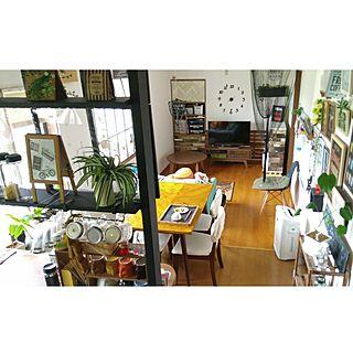 部屋全体/男前もナチュラルも好き/男前/グリーンのある暮らし/天板DIY...などのインテリア実例 - 2017-06-30 08:35:25