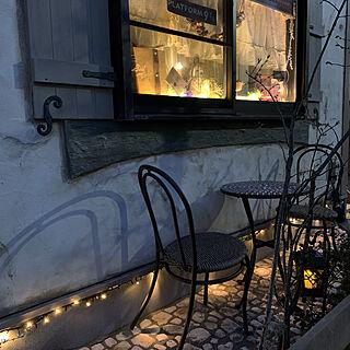 カフェ風インテリア/カフェ風/カフェテラス風/カフェテラス/夜のライトアップ...などのインテリア実例 - 2021-03-18 18:12:38