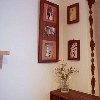 女性40歳の家族暮らし、写真飾っている場所、フォトフレームに関するMayumingoさんの実例写真