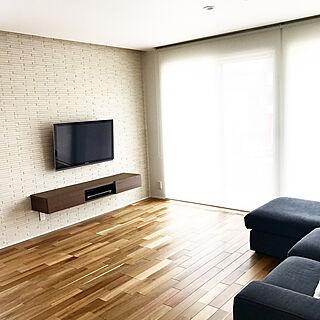 ロールスクリーン/アカシア/壁掛けテレビ/フロートテレビボード/IKEA...などのインテリア実例 - 2020-09-26 22:58:56