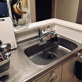 女性の、1LDK、家族住まいの「キッチン」についてのインテリア実例