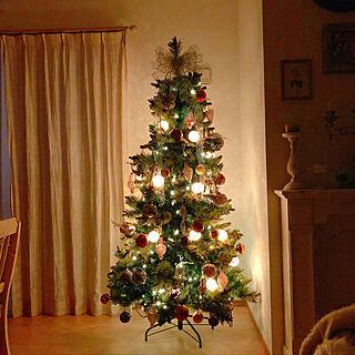 灯りに癒される/クリスマスツリー/クリスマス/蝋燭/部屋全体のインテリア実例 - 2019-10-16 18:38:22