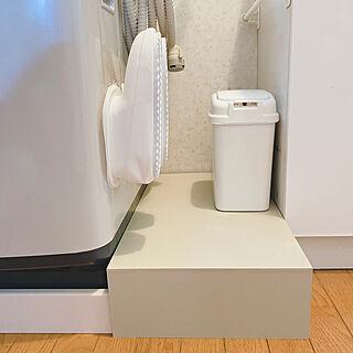 洗濯パンカバーDIY/洗濯パンカバー/コレ、DIYしたよ!/洗面所/洗濯機横...などのインテリア実例 - 2021-05-26 12:15:42