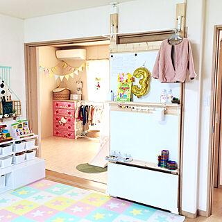 女性31歳の家族暮らし4LDK、IKEA おもちゃ収納に関するmerutoさんの実例写真