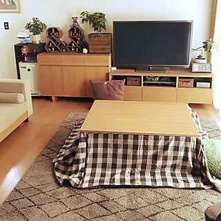 女性家族暮らし3LDK、unico TVボードに関するyumiさんの実例写真