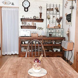 板壁DIY/見せる収納/花のある暮らし/器/水屋...などのインテリア実例 - 2019-07-08 09:12:08