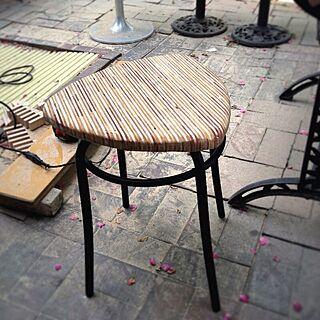 玄関/入り口/DIY/リメイク/サイドテーブル/CPテーブル...などのインテリア実例 - 2013-06-01 09:28:45