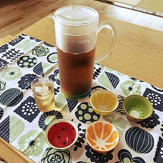 ニトリ/レトロなグラス/小鉢♡♡/麦茶ポット/夏ドリンク...などのインテリア実例 - 2020-07-22 13:16:12