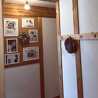 玄関/入り口/写真/端材/FISKBOフレーム/IKEA...などのインテリア実例 - 2018-01-30 15:44:04
