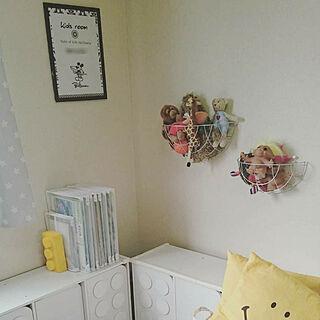 女性35歳の家族暮らし3LDK、おもちゃ、ぬいぐるみ収納に関するRさんの実例写真