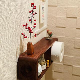 トイレットペーパーの収納/古いミシンの引き出し/クリスマス/小人♡/バス/トイレのインテリア実例 - 2020-12-25 00:36:55