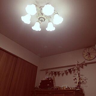壁/天井/りんちゃん/Lovely Style/照明 リビングのインテリア実例 - 2013-12-06 22:44:04