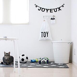 部屋全体/ねこ/IKEA/モノトーン/ラグ...などのインテリア実例 - 2015-12-19 07:58:48