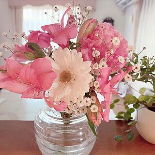 感謝致します(๓´˘`๓)♡/幸せ気分♡/癒し/花のある暮らし/いつもいいねやコメありがとうございます♡...などのインテリア実例 - 2019-03-24 20:42:42