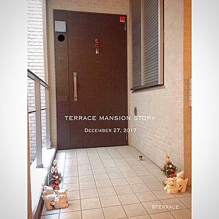 玄関/入り口/マンションインテリア/シンプルインテリア/テラスマンション/シンプルモダンインテリア...などのインテリア実例 - 2017-12-27 22:43:31